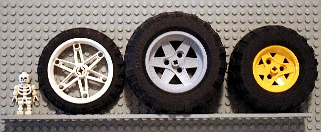 Wheel size comparison